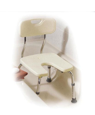 Shower Chair U Shaped W/Back (Assembled) - Accord Medical Supply