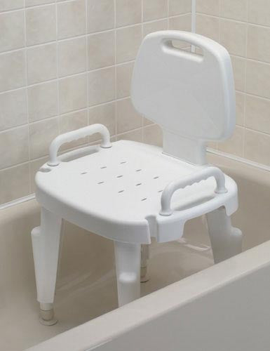 Shower Seat Adjustable With Arms and Back - Accord Medical Supply