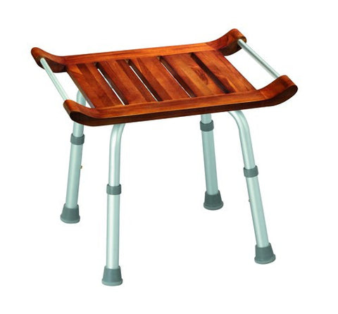 Spa Teak Bath Bench - Accord Medical Supply
