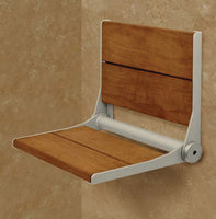 SerenaSeat Fold Down Shower Seat 18 Wide Powder Coat Grey