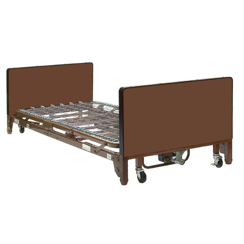 Semi Electric Bed Pkg w/Half Rails & Fibercore Mattress