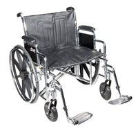 Wheelchair Std Dual-Axle 22 w/Rem Full Arms & S/A Footrest