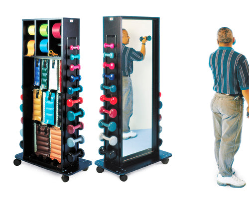 Mobile Storage Rack w Mirror