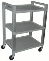 Polyurethane Utility Cart 3-Shelf W/Drawer