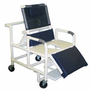 Shower Chair Bariatric PVC Reclining w/ELR