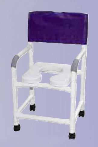 Shower Chair 18 Wide w/Soft Seat Elongated Sq Pail/FR