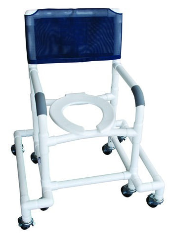 Shower Chair PVC w/Outrigger & Swivel Movement - Accord Medical Supply