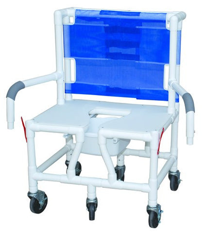 Shower/Commode Chair Bariatric w/ Seat & Dual Drop-Arms PVC - Accord Medical Supply