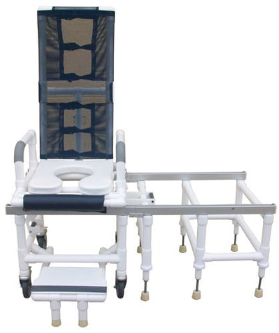 Tilt-N-Space Shower Chair PVC & Transfer Bench w/Safety Harnass - Accord Medical Supply