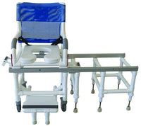 Dual Commode Shower/Transfer Chair Deluxe w/OneStep Lock - Accord Medical Supply
