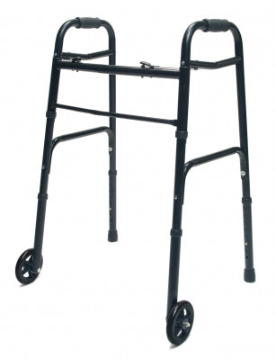 Walker Adult w/5 Wheels Folding Plum Case of 2