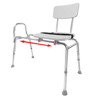 Sliding Transfer Bench X-Long Cut Out Seat