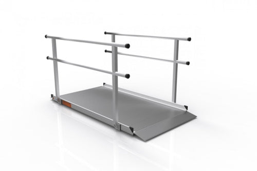 Portable Ramp Solid Surface 8' w/Handrails