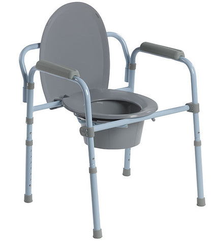 Folding Steel Commode - Accord Medical Supply