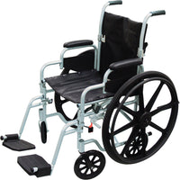 Poly Fly Light Weight Transport Chair Wheelchair with Swing away Footrest - Accord Medical Supply