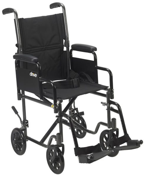 Lightweight Steel Transport Wheelchair With Removable Arms - Accord Medical Supply