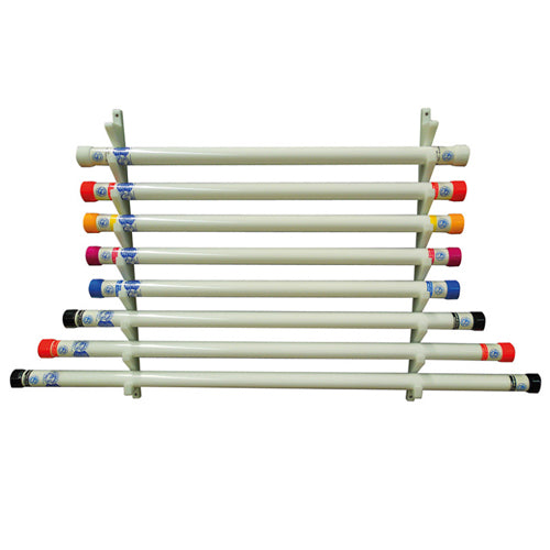 Wall Mount Therapy Bar Rack Holds 9 Bars