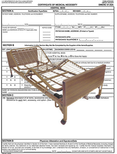Certificate of Medical Necessity<br>Hospital Beds PDF file - Accord Medical Supply