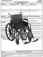 Certificate of Medical Necessity<br>Manual Wheelchair PDF file - Accord Medical Supply