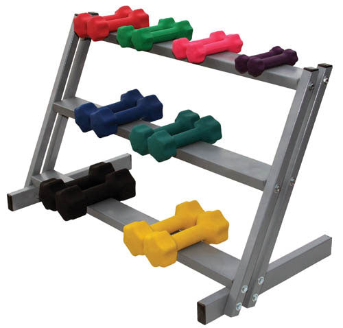 3-Shelf Dumbell Floor Rack