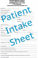 Patient Intake Sheet PDF file - Accord Medical Supply