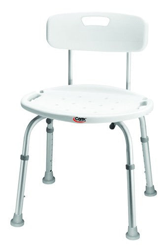 Bath & Shower Seat w/ Back Adjustable - Accord Medical Supply