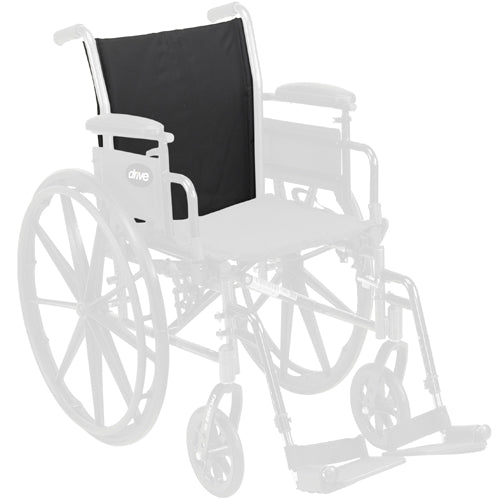 Back Upholstery only Black for Cruiser III Wheelchair 20