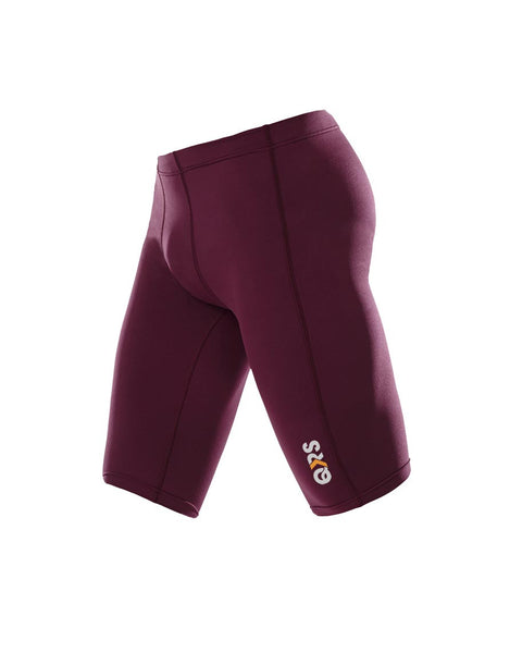 Men's Maroon Knee Length Short