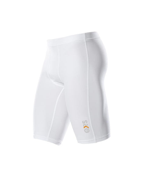 Men's White Knee Length Short