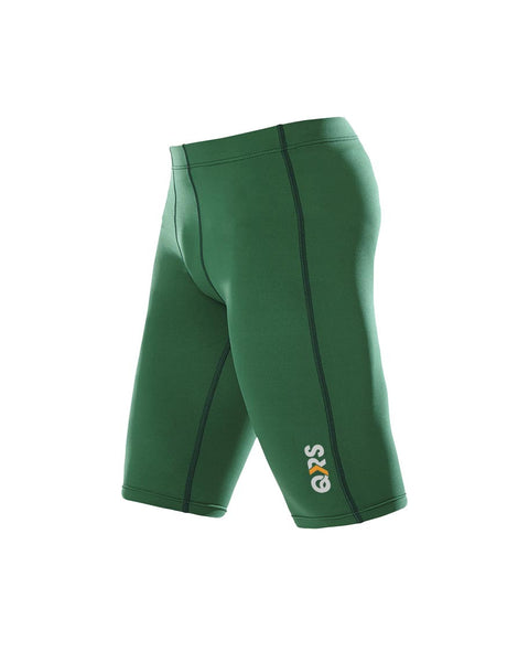 Youth Male Green Knee Length Short