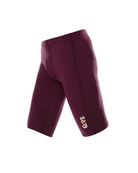 Youth Male Maroon Knee Length Short