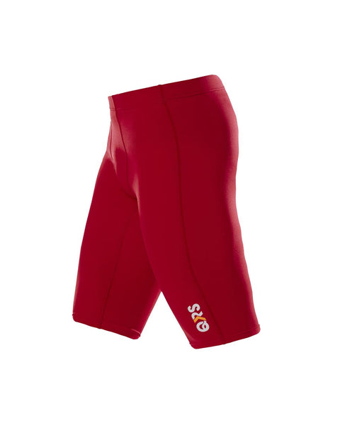 Youth Male Red Knee Length Short