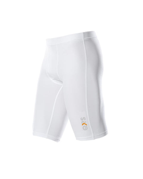 Youth Male White Knee Length Short