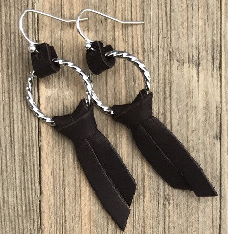 Handcrafted Leather Diffuser Earrings