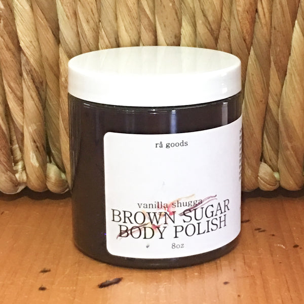 Brown Sugar Body Polish - vanilla shugga - rå goods