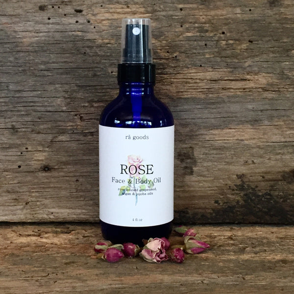 Face & Body Oil - ROSE - rå goods