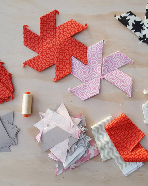 Half Hexagon Paper Pieces