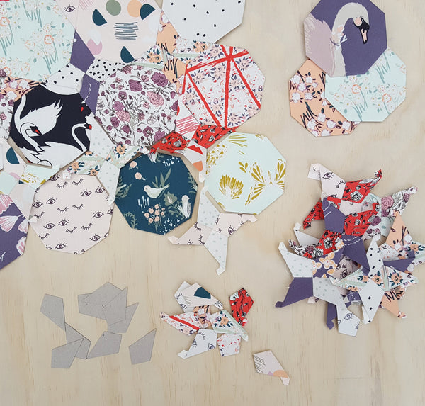Four Point Star Paper Pieces
