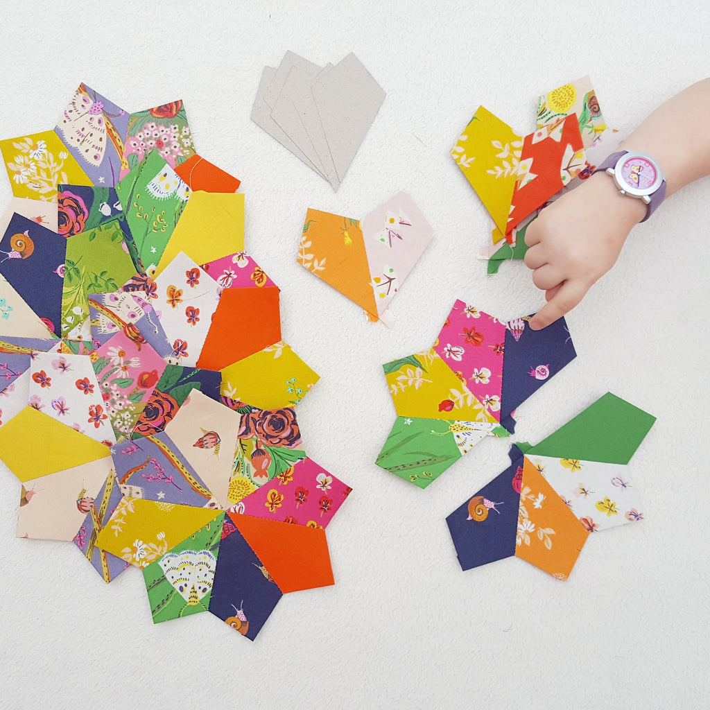 45 degree Kite Paper Pieces