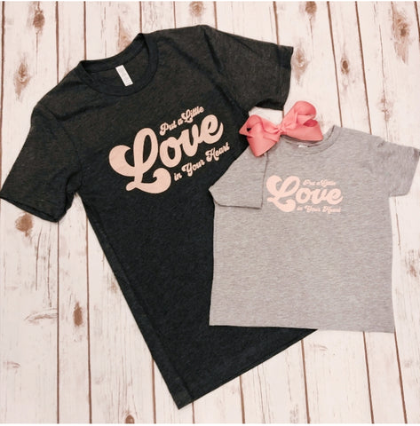 Kids- Put a little love in your heart tee
