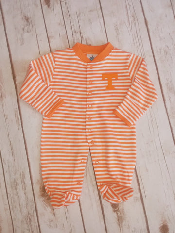 Tennessee Striped Footed Romper