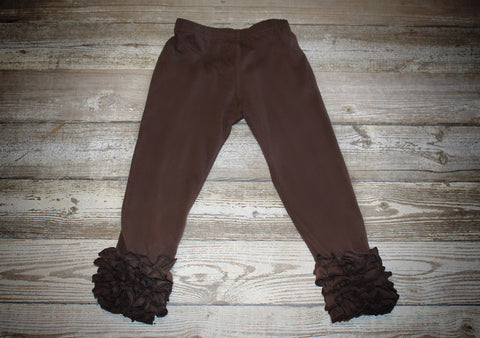 *Brown Icing Ruffle Pant Old Sizing (Shorter Length)*