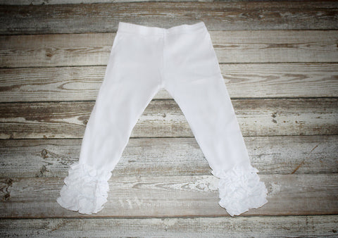 *White Icing Ruffle Pant Old Sizing (Shorter Length)*