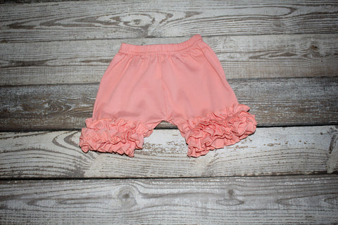 *Peach Icing Ruffle Shorts*