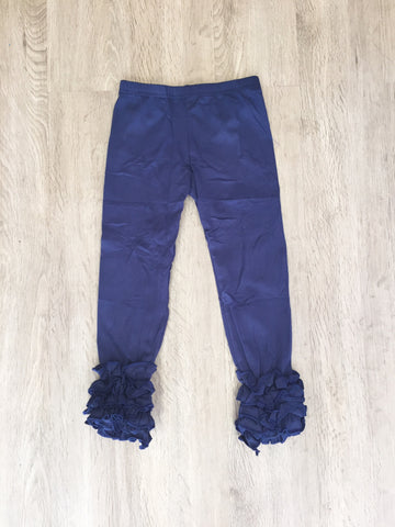 *Navy Ruffle Icing Legging Pant *New Sizing**
