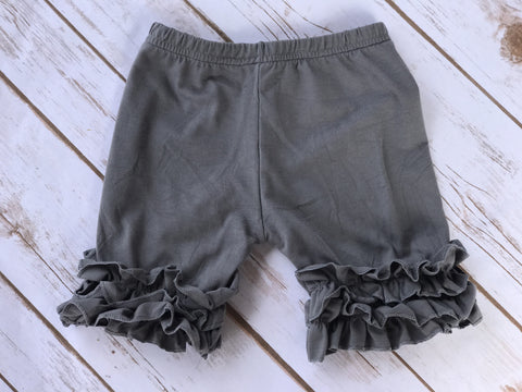 Spring 2017 Dark Grey Icing Ruffle Shorts