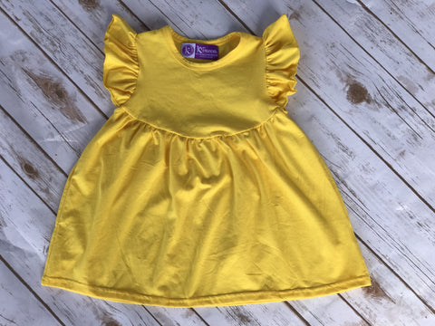 Spring 2017 Yellow Flutter Tunic