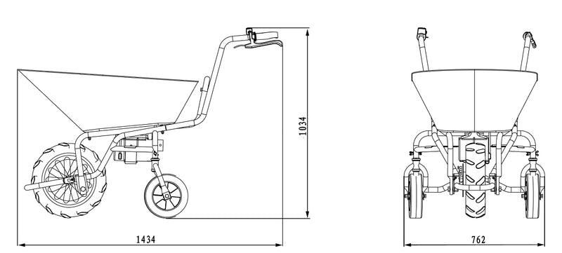 Electric Motorized Wheelbarrow