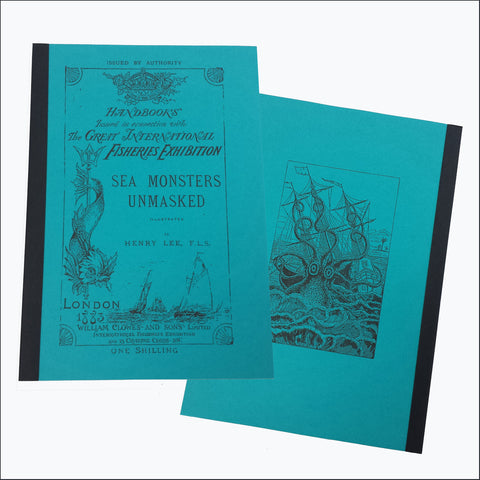 SEA MONSTERS UNMASKED, Illustrated.  1883  (Softcover)
