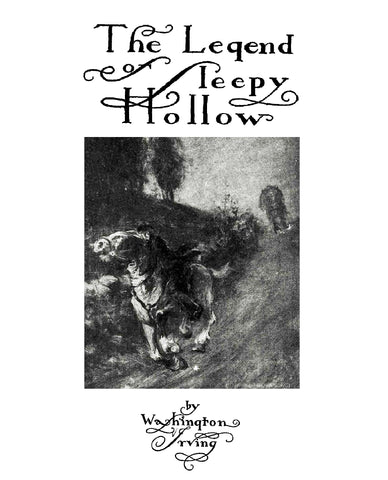 LEGEND OF SLEEPY HOLLOW by Washington Irving.  Illustrated. (1899) - Softcover